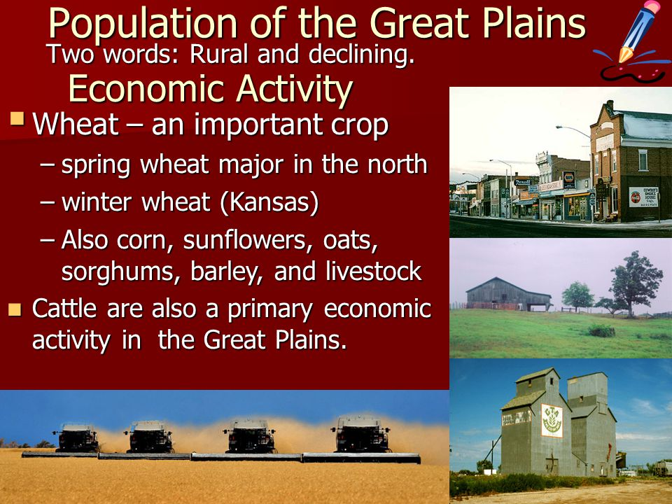 Population of the Great Plains Two words: Rural and declining.