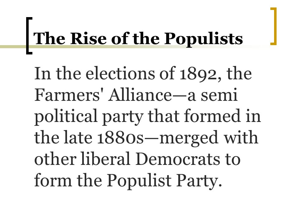 Populists nominate… These Populists nominated former Greenback Party member James B.
