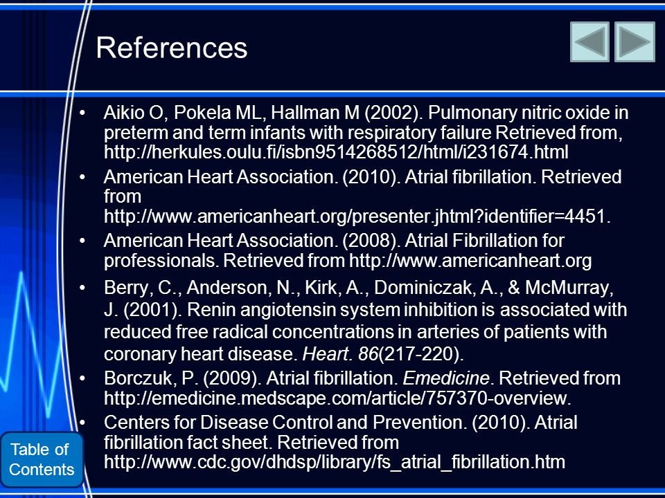 Table of Contents References Aikio O, Pokela ML, Hallman M (2002).