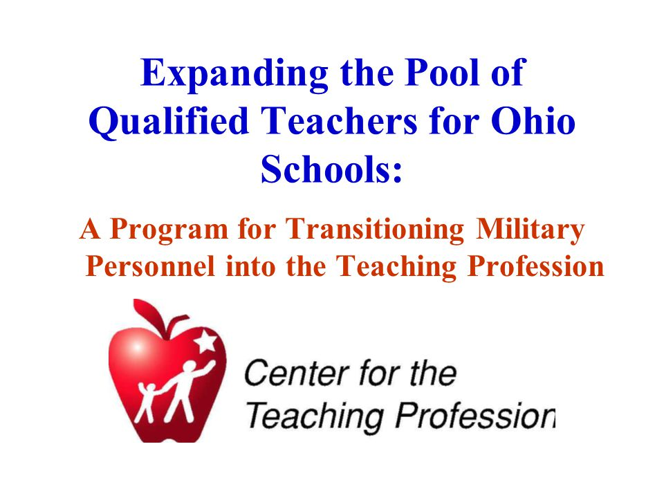 Required Partnerships Ohio Department of Education; Institutions of Higher Education; School Districts; Military Installations.