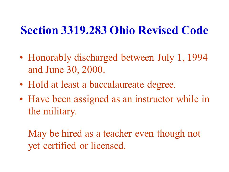 Ohio Troops to Teachers Program* 1,782 veterans have requested information.