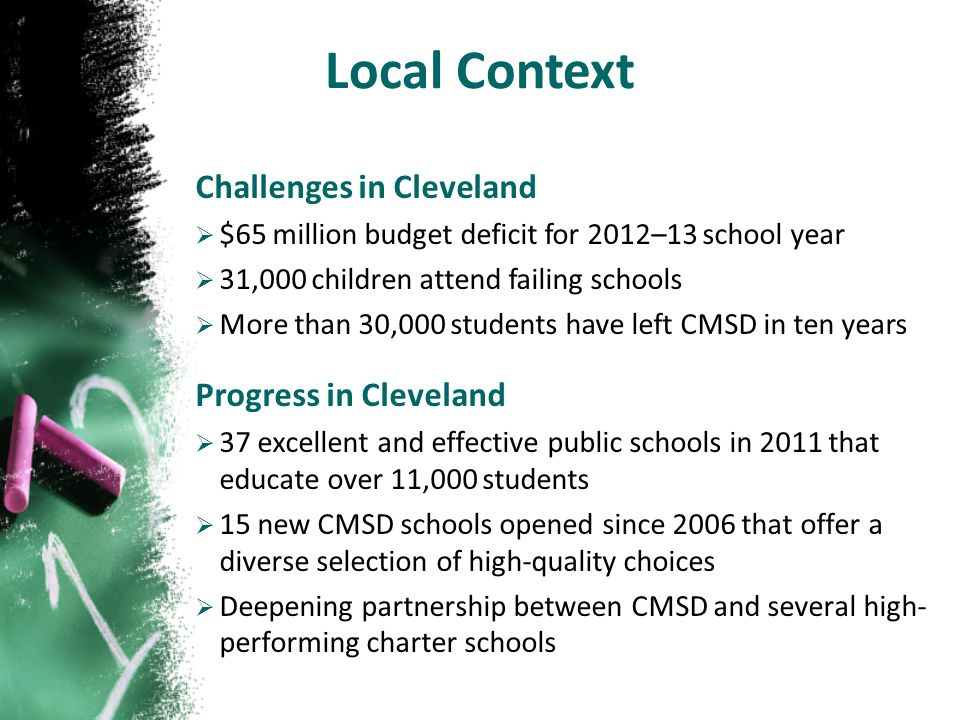 Across the country, urban districts are moving from a traditional, single-source school district … …to a portfolio of district and charter schools held to the highest standards and working in partnership to create dramatic student achievement… …thereby shifting the role of central office from compliance to performance management and improvement.