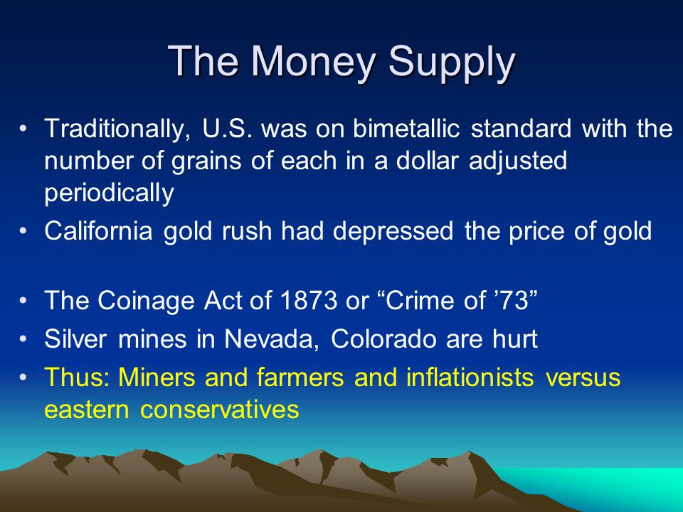 The Money Supply Traditionally, U.S.