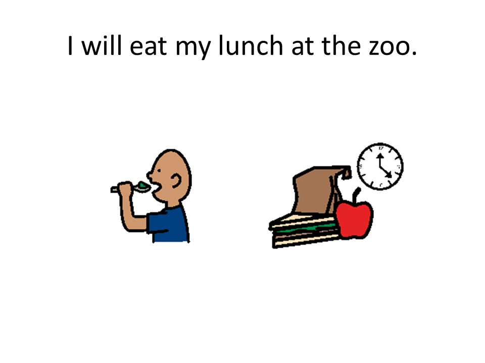 I will eat my lunch at the zoo.