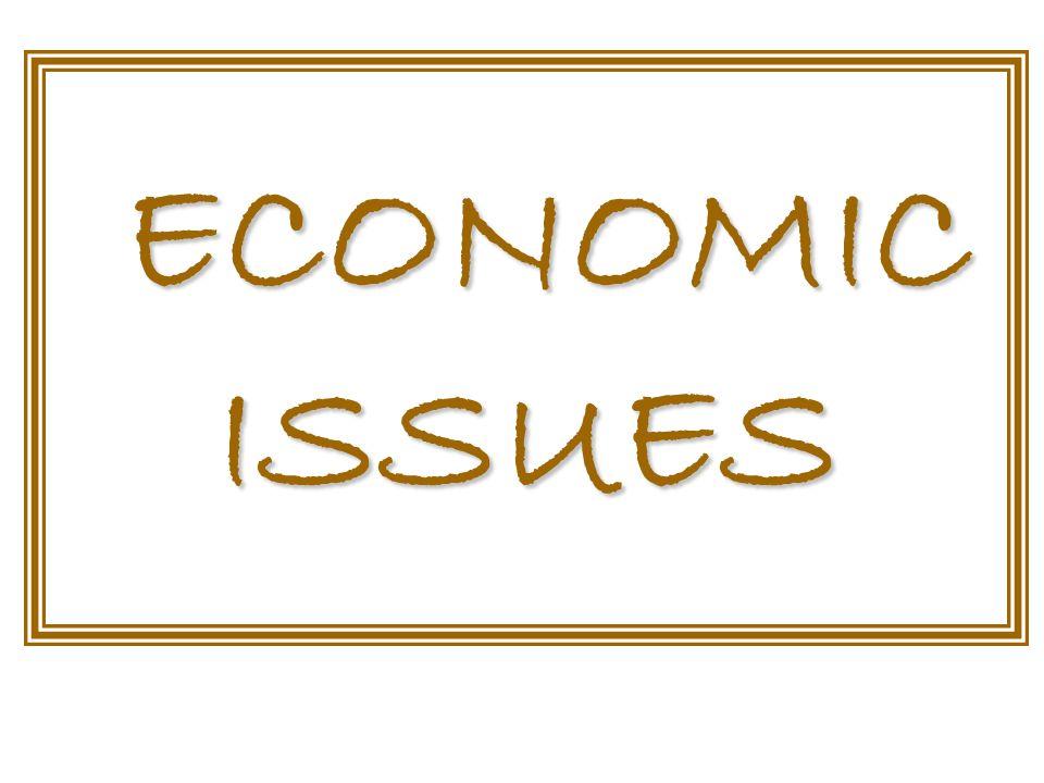 ECONOMIC ISSUES ECONOMIC ISSUES