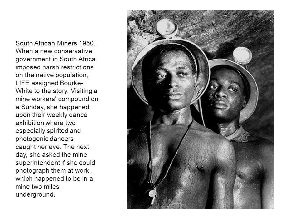 South African Miners 1950.