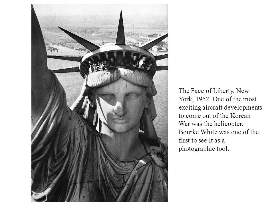 The Face of Liberty, New York, 1952.