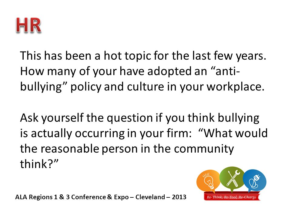 ALA Regions 1 & 3 Conference & Expo – Cleveland – 2013 This has been a hot topic for the last few years.