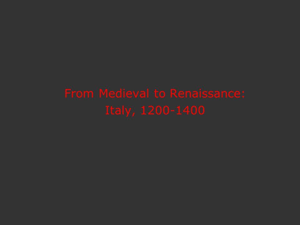 Compare Byzantine (left) style and content with High Renaissance (right) (left) Bonaventura Berlinghieri, Saint Francis Altarpiece, 1235 and (right) Raphael, Baldassare Castiglione, ca 1514, mastered illusionism