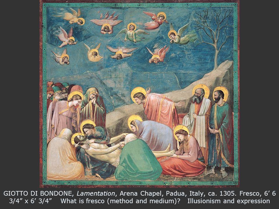 GIOTTO DI BONDONE, Lamentation, Arena Chapel, Padua, Italy, ca.