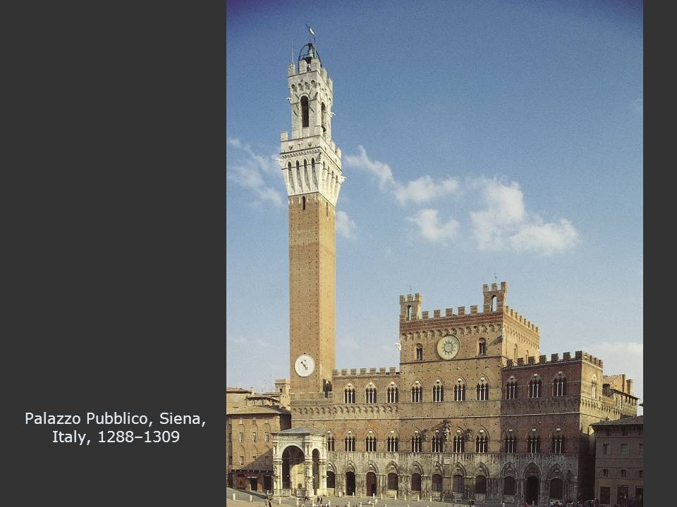 Palazzo Pubblico, Siena, Italy, 1288–1309