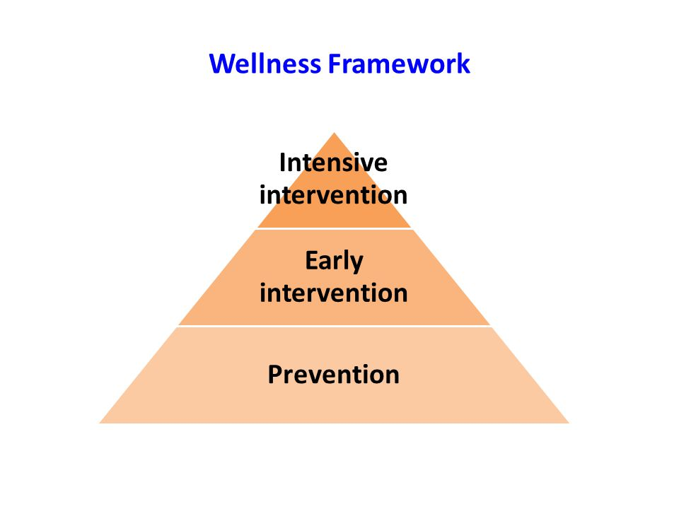 Wellness Framework Intensive intervention Early intervention Prevention