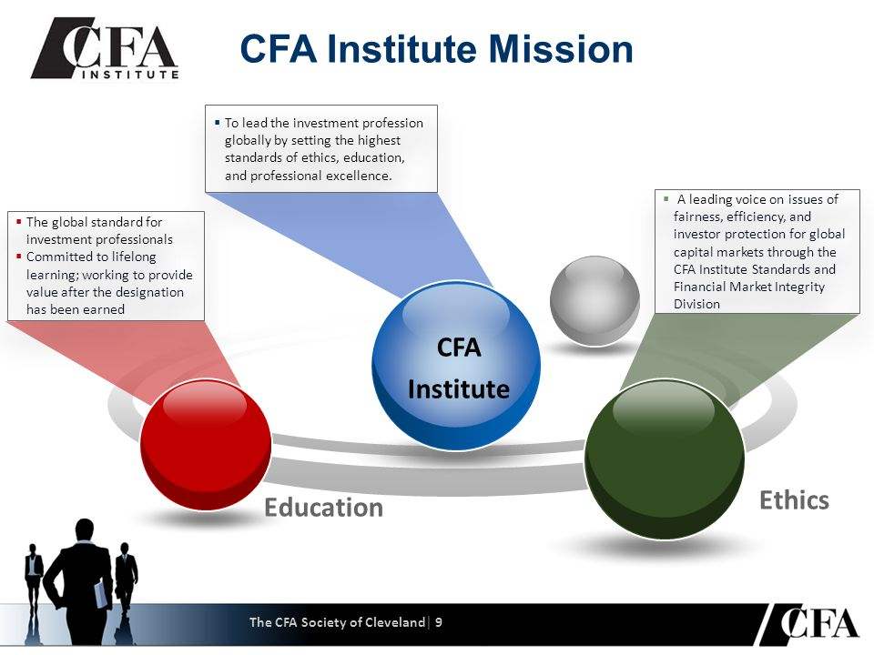 Education Professional Excellence Ethics CFA Institute  To lead the investment profession globally by setting the highest standards of ethics, education, and professional excellence.