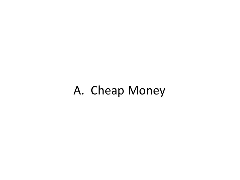 A. Cheap Money