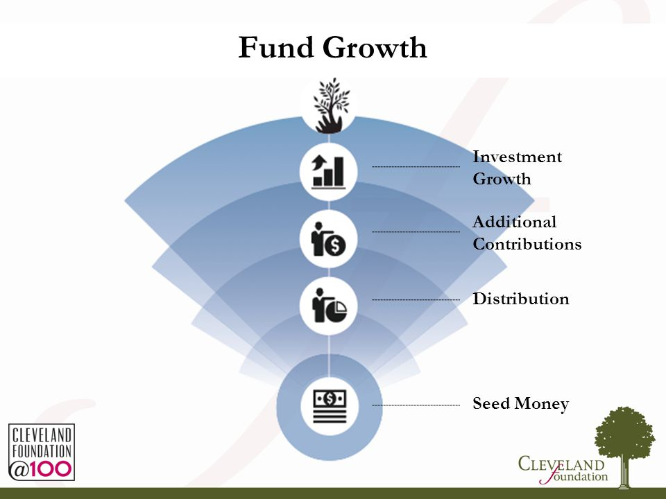 5 Fund Growth Investment Growth Additional Contributions Distribution Seed Money Fund Growth