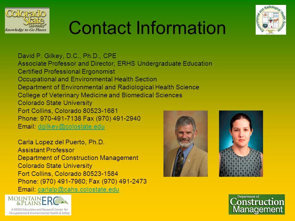 Contact Information David P.