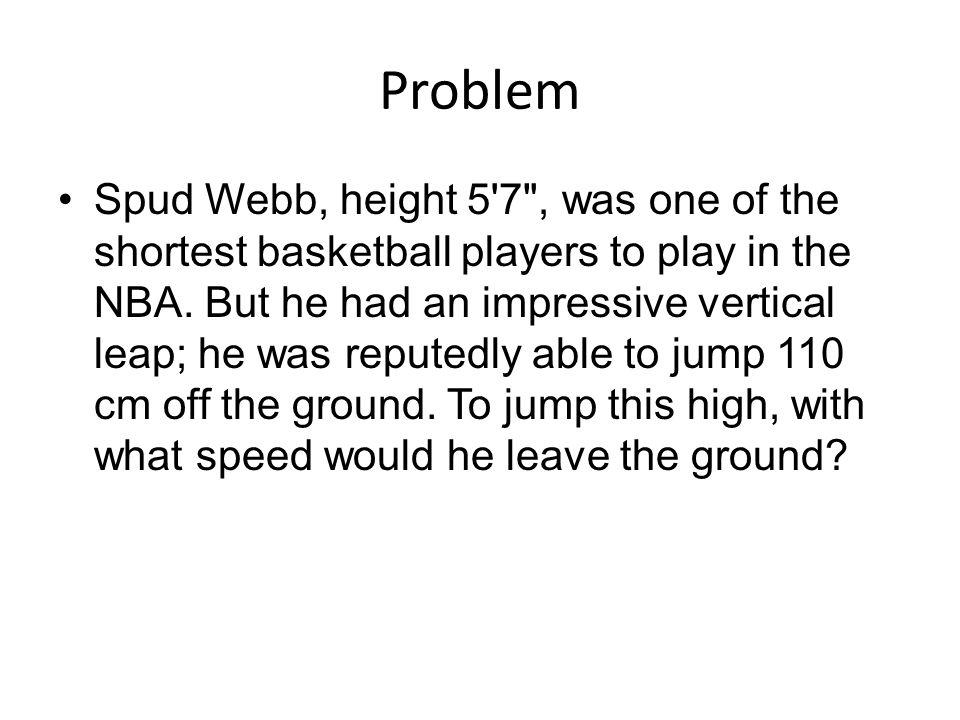 Problem Spud Webb, height 5'7