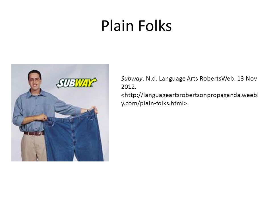 Plain Folks Subway. N.d. Language Arts RobertsWeb. 13 Nov 2012..