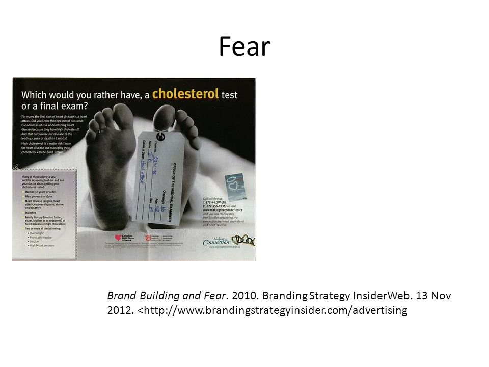 Fear Brand Building and Fear.2010. Branding Strategy InsiderWeb.