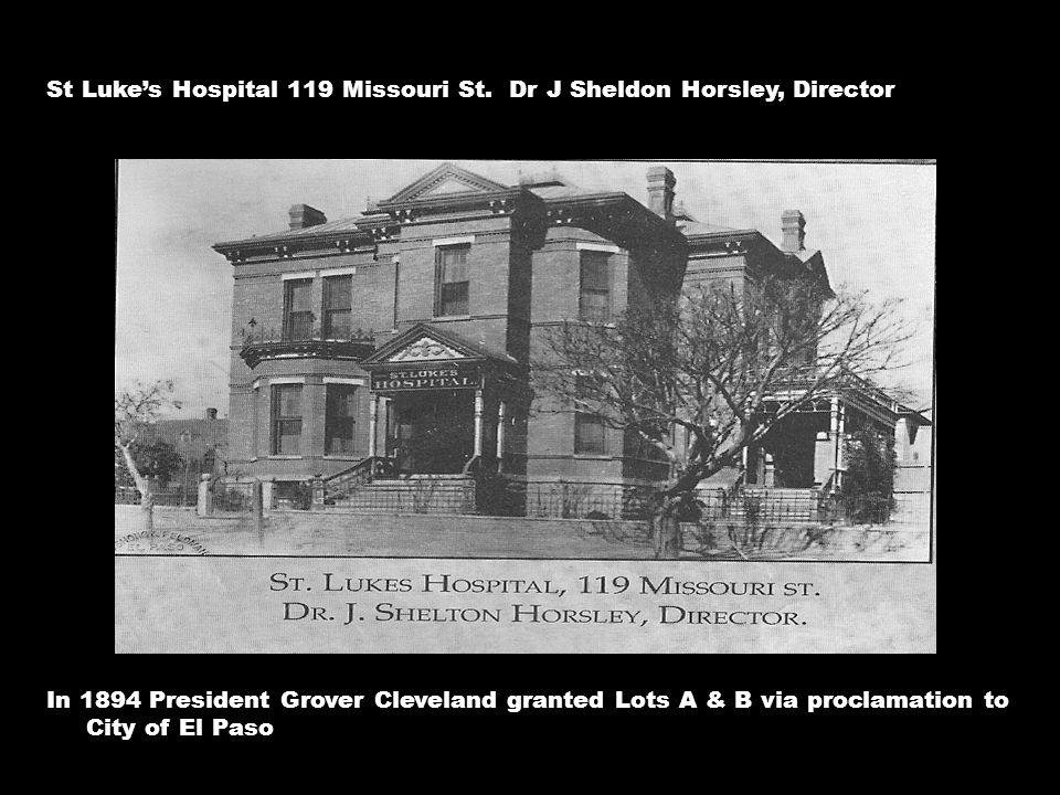 St Luke's Hospital 119 Missouri St.