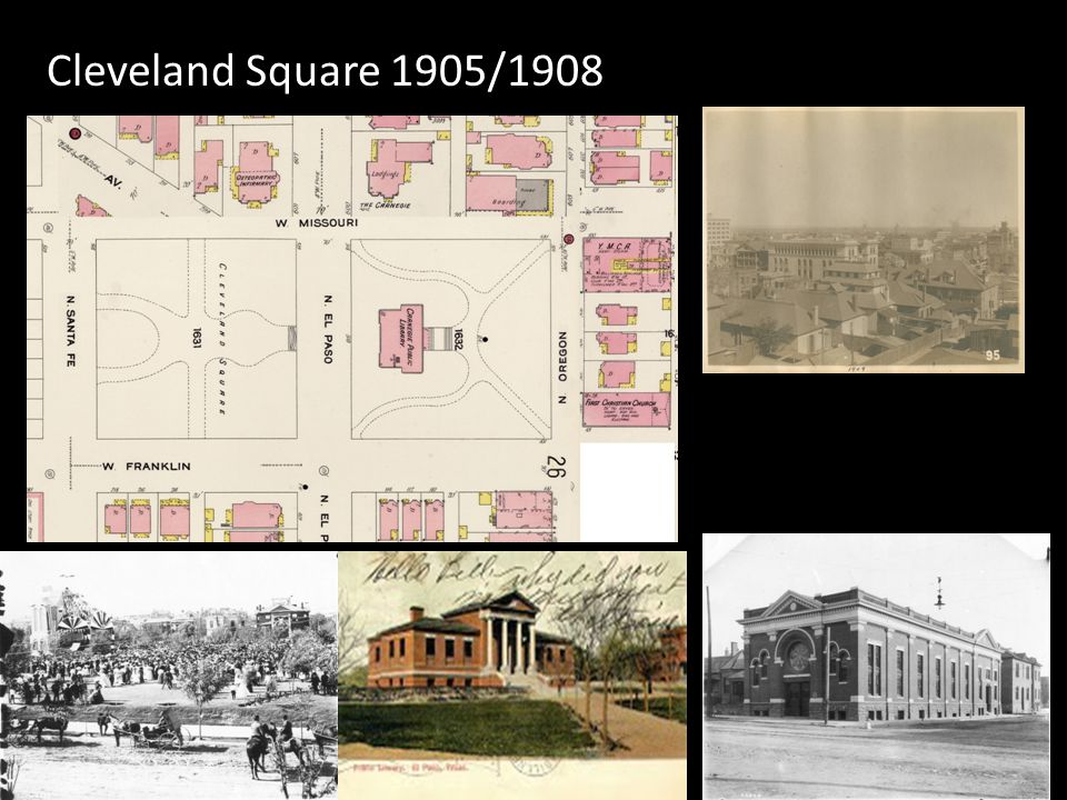 Cleveland Square 1905/1908 Cleveland Square decorated for the presidential visit ca Ca 1908