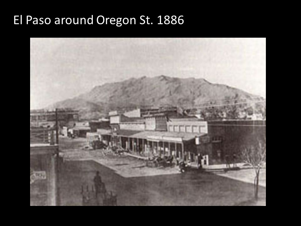 El Paso around Oregon St. 1886