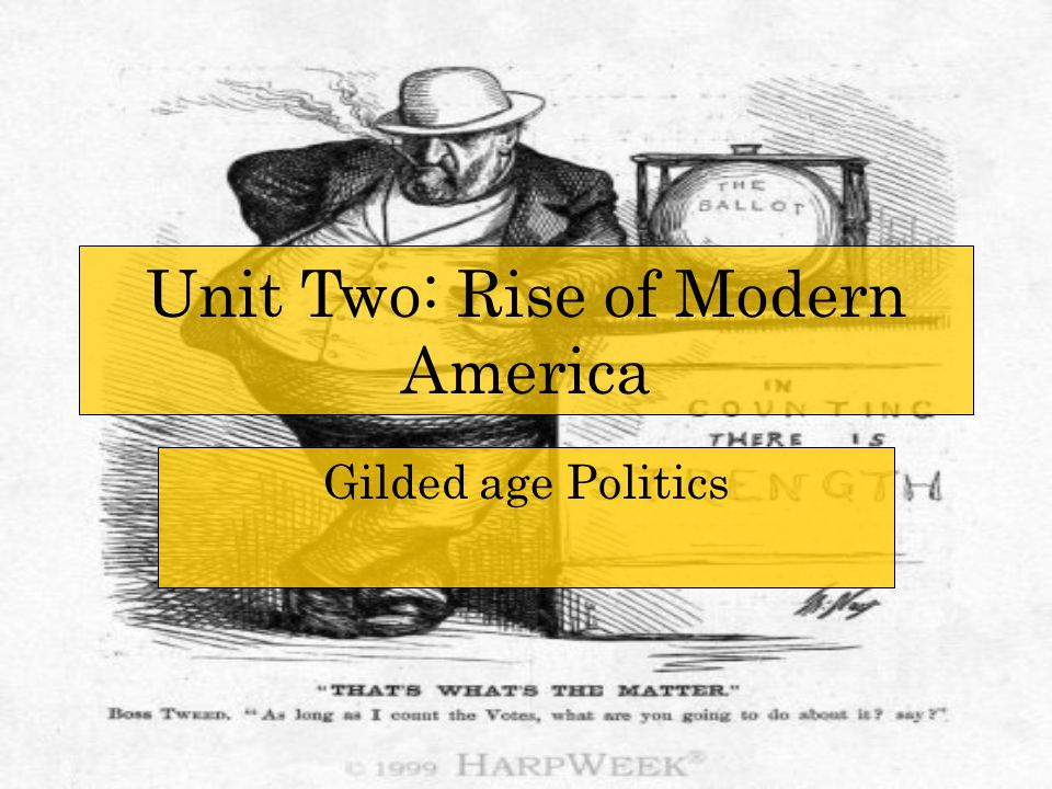 The Gilded Age The Gilded Age was the time period between 1870 and 1900 that developed Modern America.