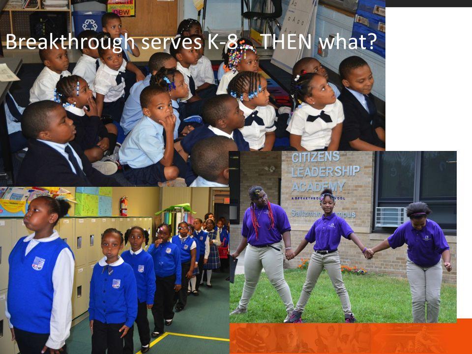 Breakthrough serves K-8… THEN what