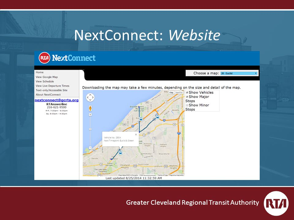 Greater Cleveland Regional Transit Authority NextConnect: Website