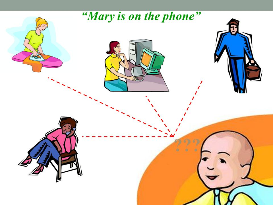 """Mary is on the phone"" ???"