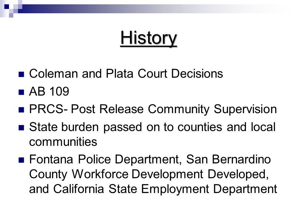 Target Population Parole Probation No formal Supervision but criminal history Pre-Offender Status