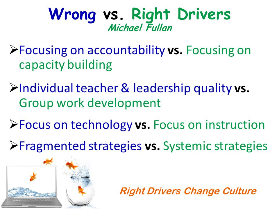 Right Drivers Change Culture Wrong vs.