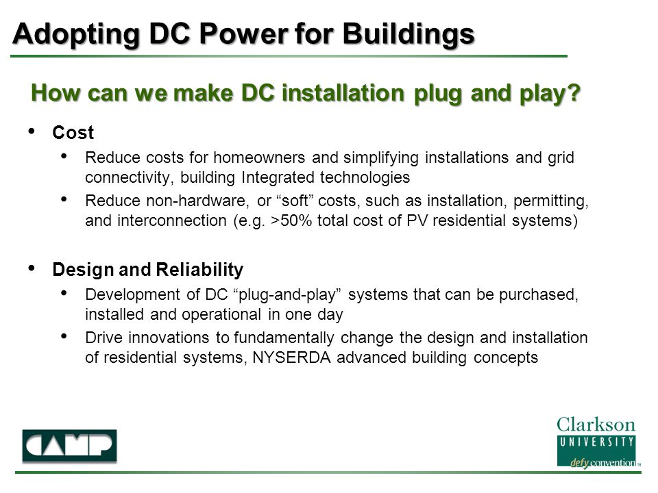 How can we make DC installation plug and play.