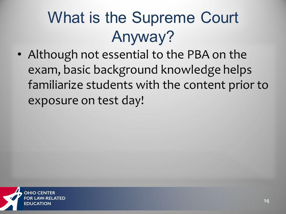 Although not essential to the PBA on the exam, basic background knowledge helps familiarize students with the content prior to exposure on test day! 1