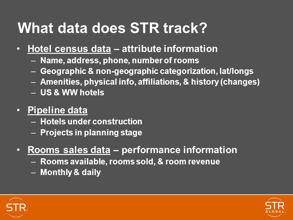 What data does STR track.