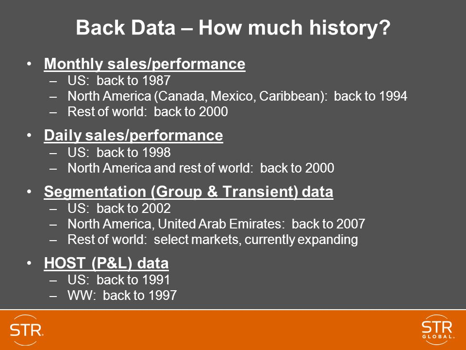 Back Data – How much history.