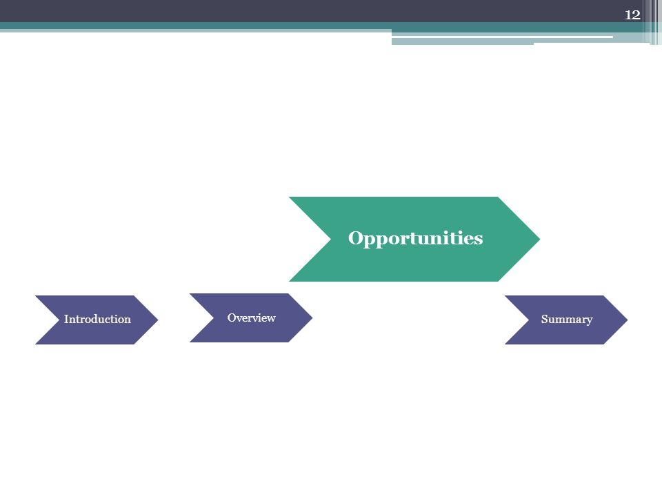 12 Introduction Opportunities Overview Summary