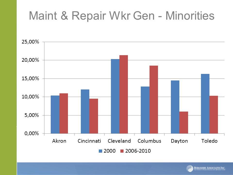 Maint & Repair Wkr Gen - Minorities