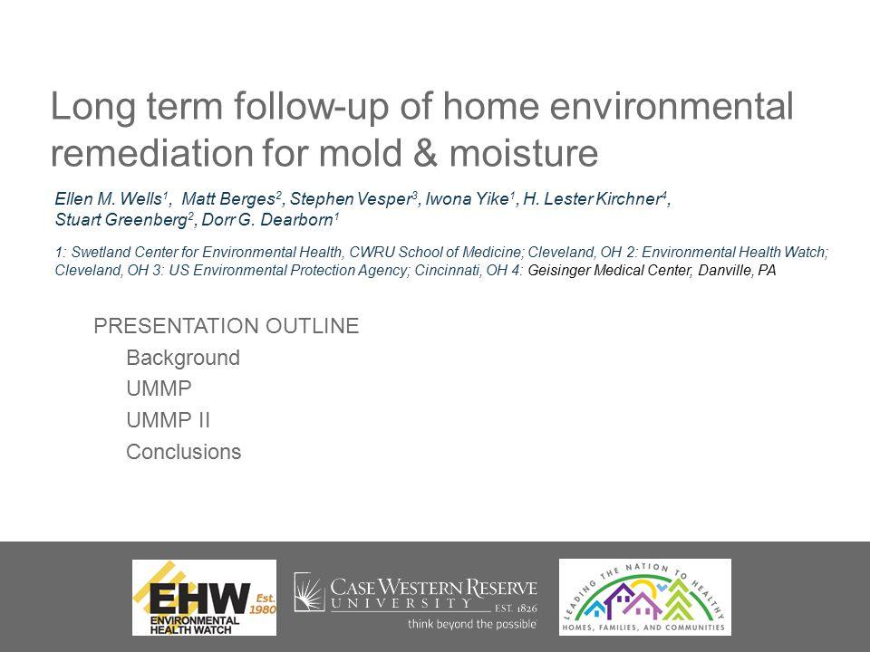 PRESENTATION OUTLINE Background UMMP UMMP II Conclusions Ellen M.