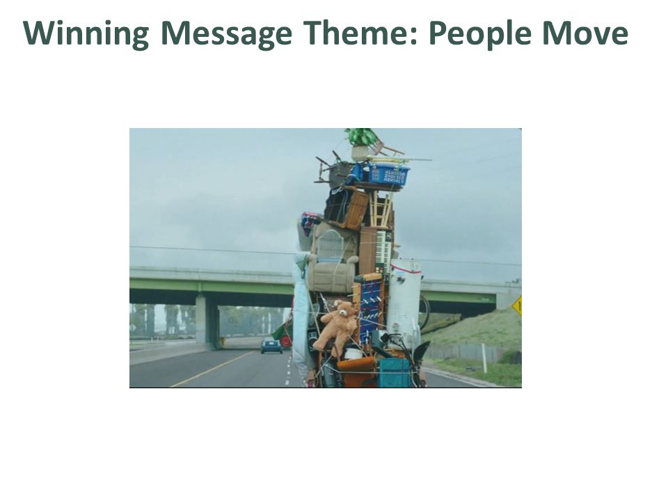 Winning Message Theme: People Move