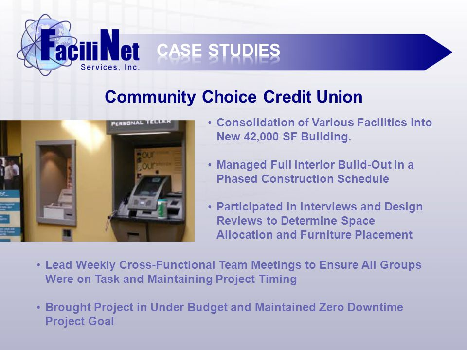 Community Choice Credit Union Consolidation of Various Facilities Into New 42,000 SF Building.