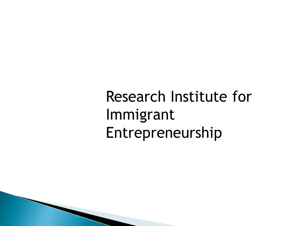 Research Institute for Immigrant Entrepreneurship