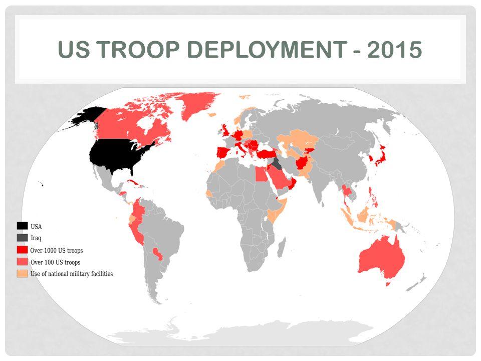 US TROOP DEPLOYMENT - 2015
