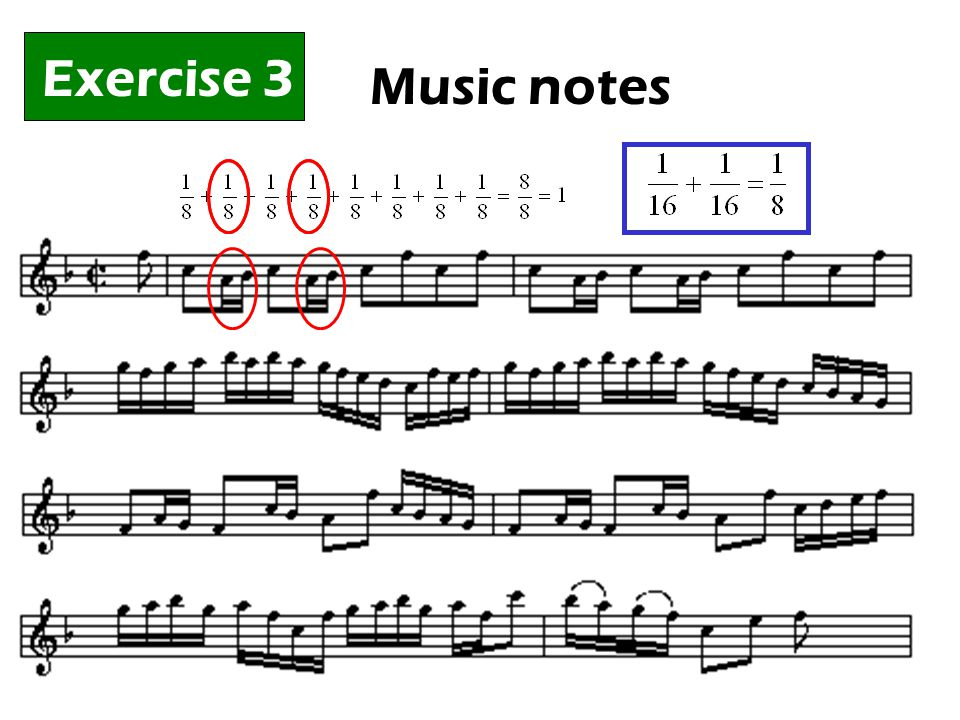 Exercise 3 Music notes