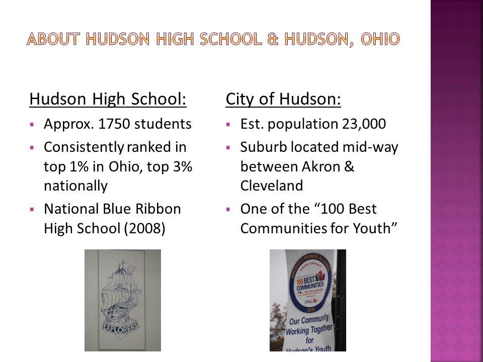 Hudson High School:  Approx.