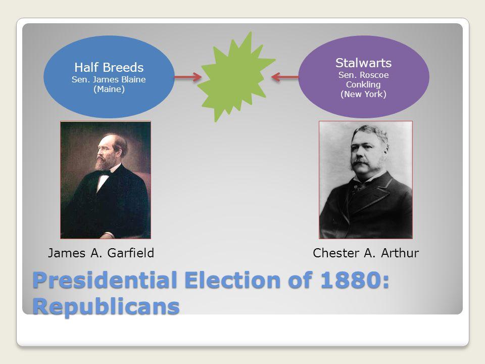Presidential Election of 1880: Republicans Half Breeds Sen.