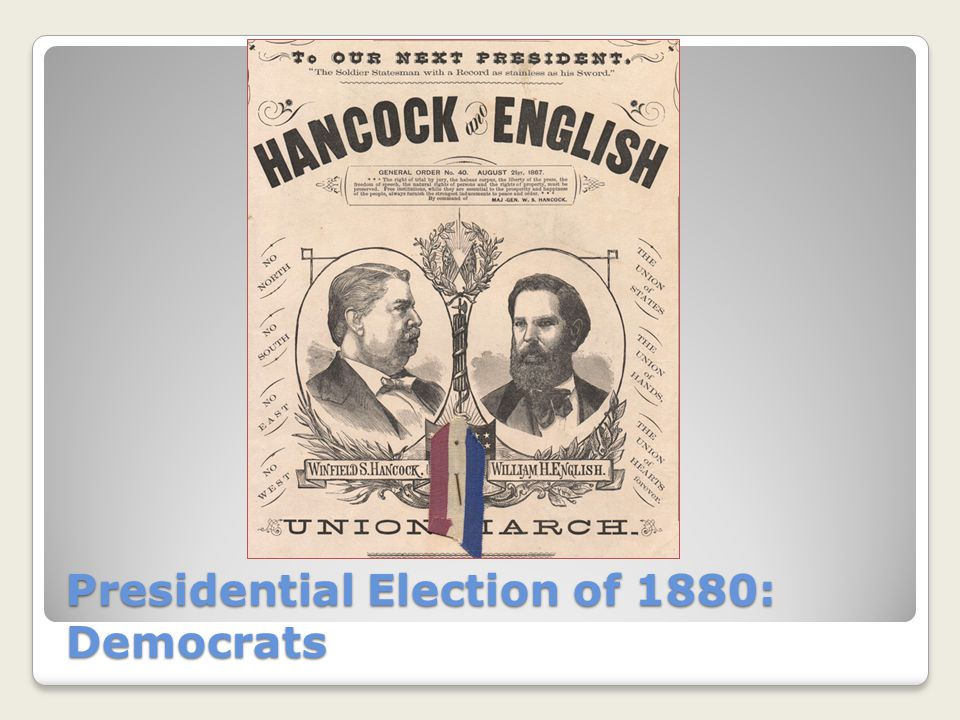 Presidential Election of 1880: Democrats