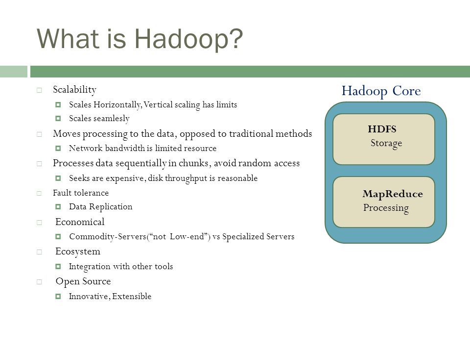 What is Hadoop.