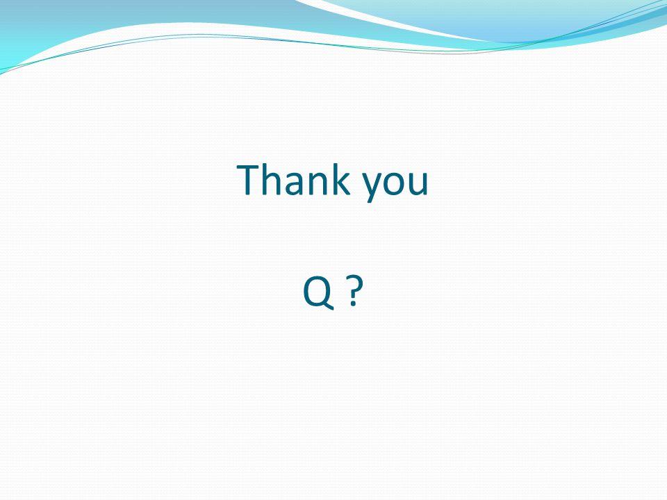 Thank you Q