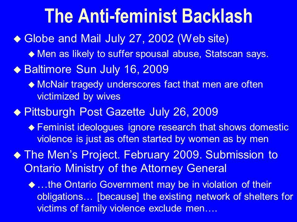 Heterosexual intimate partner violence by gender Data SourceMenWomen U.S., NFVS, 1975—the beginning51%49% U.S., NSFH, 198853%47% North Carolina, 8 th & 9 th Grade, 199435%65% U.